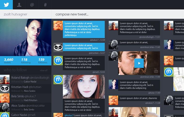Konzept Twitter
