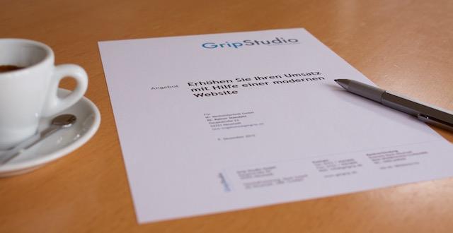Angebotsvorlage Für Webdesign Projekte Zum Download Grip Blog