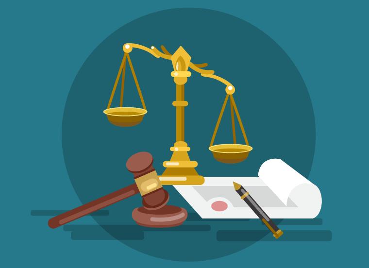 Mahnschreiben bei Gericht
